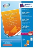 Papier fotograficzny AVERY Laser A-4 170 g/m2 1998 Superior Colour Laser, matowy