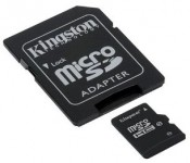 Karta pamięci KINGSTON MicroSDHC 8 GB class 10 z adaptorem