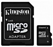 Karta pamięci KINGSTON MicroSDHC 8 GB Class 4 z adapterem