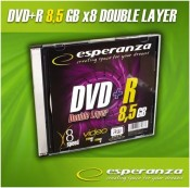 Płyta DVD+R ESPERANZA DL 8,5GB x8 Slim Double Layer