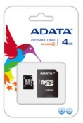 Karta pamięci A-DATA Micro SDHC 4 GB Class 4 + adapter SD